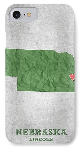 I Love Lincoln Nebraska - Green IPhone Case
