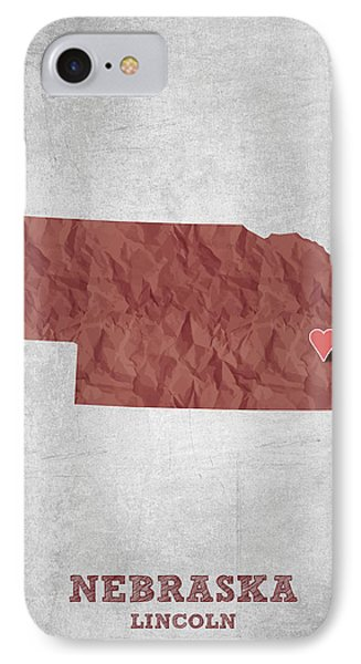 I Love Lincoln Nebraska - Red IPhone Case