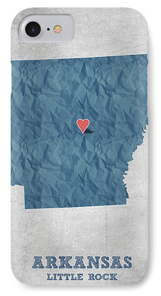 I Love Little Rock Arkansas - Blue IPhone Case