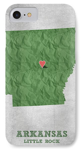 I Love Little Rock Arkansas - Green IPhone Case