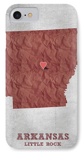 I Love Little Rock Arkansas - Red IPhone Case