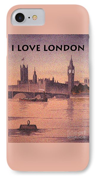 I Love London IPhone Case by Bill Holkham