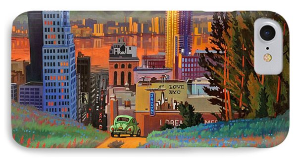 IPhone Case featuring the painting I Love New York City Jazz by Art James West