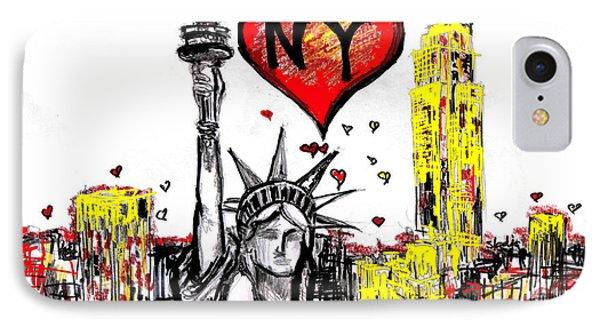 I Love Ny IPhone Case by Sladjana Lazarevic