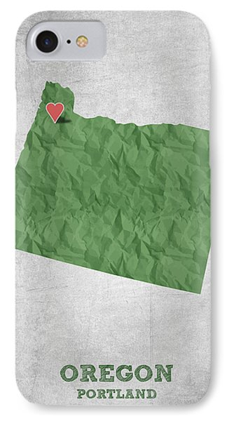I Love Portland Oregon- Green IPhone Case by Aged Pixel
