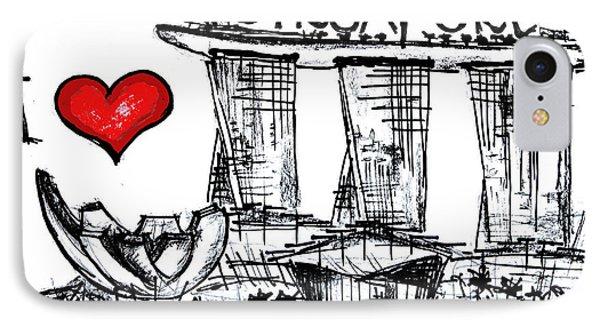 I Love Singapore IPhone Case by Sladjana Lazarevic
