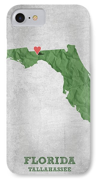 I Love Tallahassee Florida - Green IPhone Case by Aged Pixel