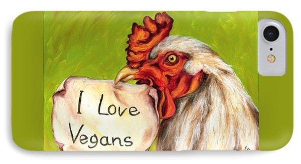 I Love Vegans IPhone Case by Hiroko Sakai