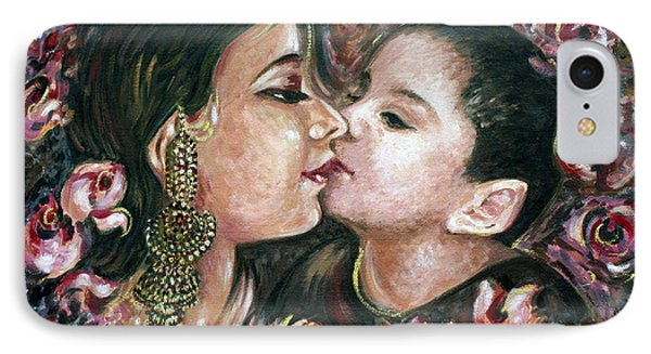 IPhone Case featuring the painting I Love You Mom by Harsh Malik