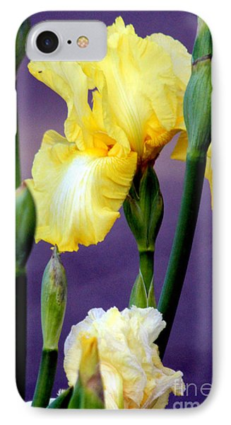 I Only Have Iris For You Phone Case by Kathy  White