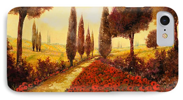 I Papaveri In Estate IPhone Case by Guido Borelli