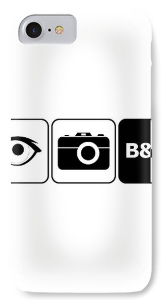 IPhone Case featuring the digital art I Photograph Black And White by Brian Carson