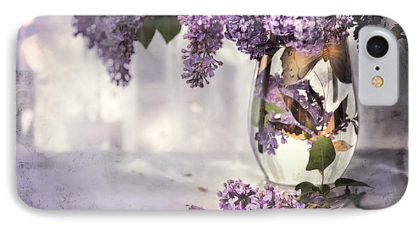 I Picked A Bouquet Of Lilacs Today Phone Case by Theresa Tahara