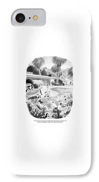 I Roamed The World Trying To Find Myself IPhone Case by Richard Taylor