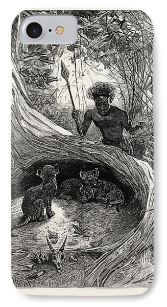 I Saw In The Hollow Between The Roots Of A Big Tree Three IPhone Case by English School