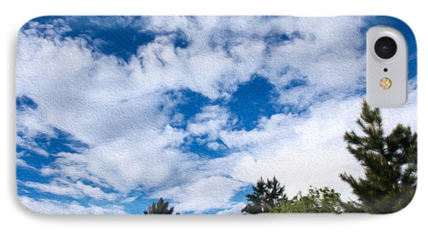 I See A White Cloud Looking At Me Phone Case by Omaste Witkowski