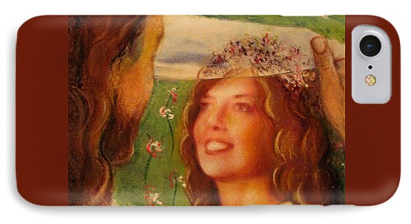 IPhone Case featuring the painting I Will Lift The Veil by Hazel Holland