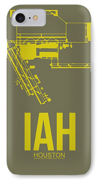 Iah Houston Airport Poster 2 IPhone Case by Naxart Studio