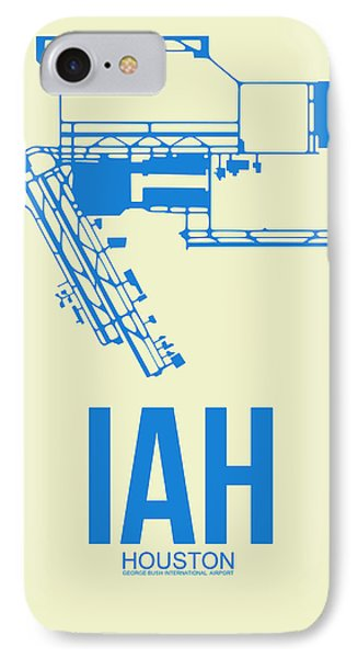 Jet iPhone 7 Case - Iah Houston Airport Poster 3 by Naxart Studio