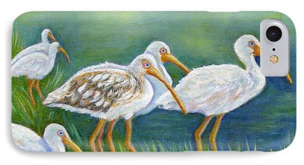 Ibis Flock With Juvenile IPhone Case by Jeanne Kay Juhos