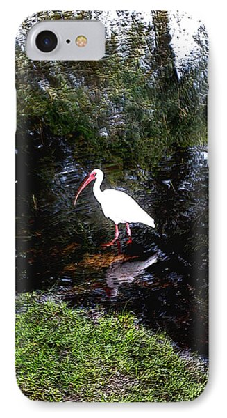 IPhone Case featuring the photograph Ibis In Pond by Irma BACKELANT GALLERIES