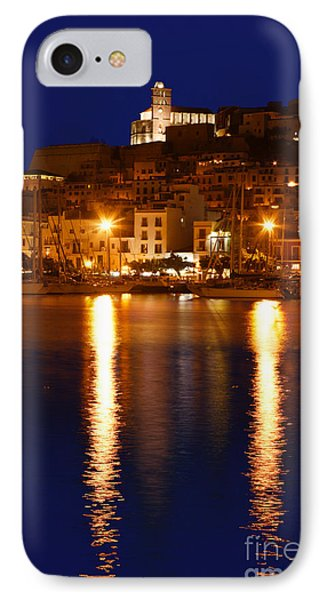 Ibiza Old Town At Night IPhone Case by Rosemary Calvert