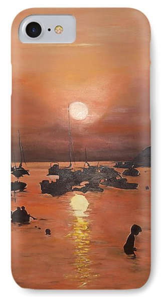 IPhone Case featuring the painting Ibiza Sunset by Cherise Foster
