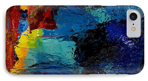 Ice Abstract Number One Phone Case by Jeff Rennicke