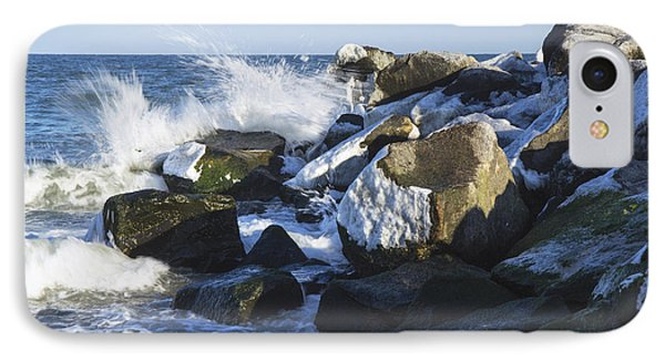 Ice And Snow At Herring Point IPhone Case