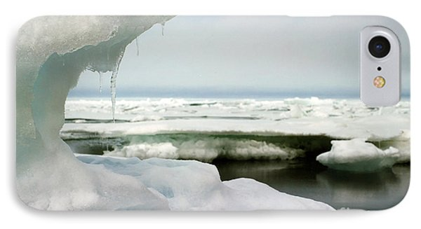 IPhone Case featuring the photograph Ice Barrow Alaska July 1969 By Mr. Pat Hathaway by California Views Mr Pat Hathaway Archives