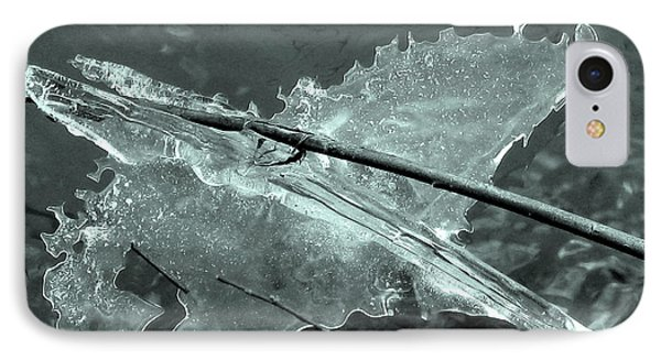 IPhone Case featuring the photograph Ice-bird On The River by Nina Silver