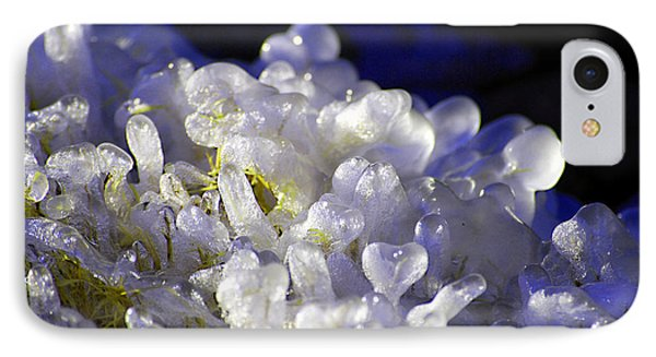 IPhone Case featuring the photograph Ice Bubbles by Linda Cox