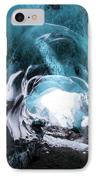 Ice Cave Entrance IPhone Case by Dr Juerg Alean