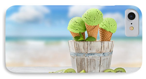 Kiwi iPhone 7 Case - Ice Cream At The Beach by Amanda Elwell
