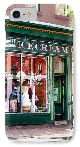 Alexandria Va - Ice Cream Parlor IPhone Case by Susan Savad