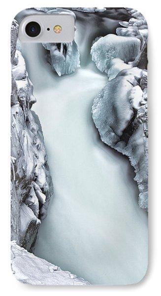 Ice Creek Cascade IPhone Case by Darren  White