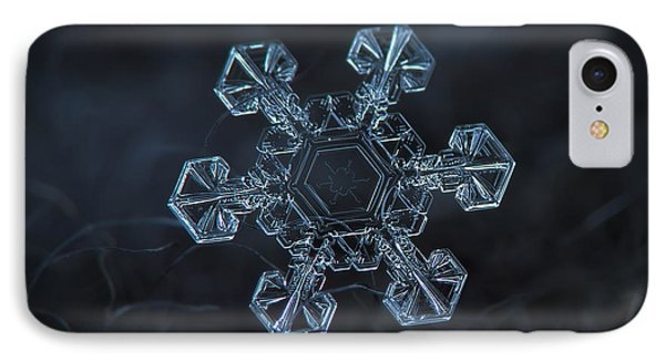 IPhone Case featuring the photograph Snowflake Photo - Ice Crown by Alexey Kljatov