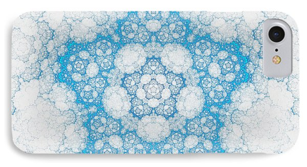 IPhone Case featuring the digital art Ice Crystals by GJ Blackman