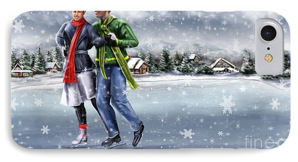 Ice Dancing On The Lake Phone Case by Reggie Duffie