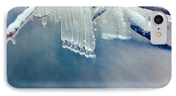 Ice Drops Over Stream Phone Case by Dan Friend