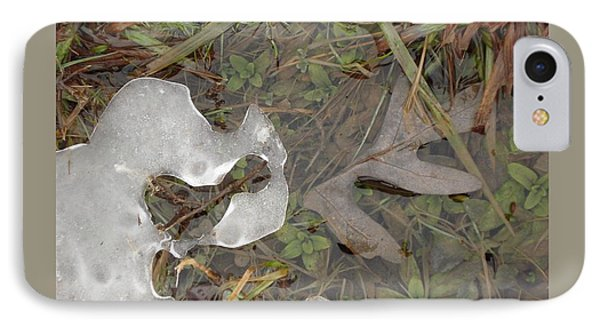 Ice Edges-ii IPhone Case by Patricia Overmoyer