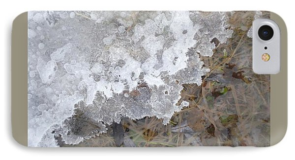 Ice Edges-iv IPhone Case by Patricia Overmoyer