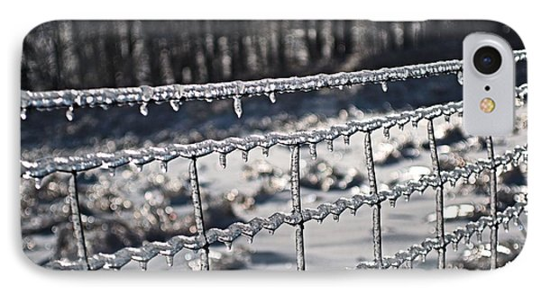 Ice Fence IPhone Case by Douglas Pike
