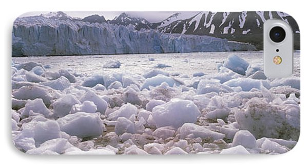 Ice Floes In The Sea With A Glacier IPhone Case