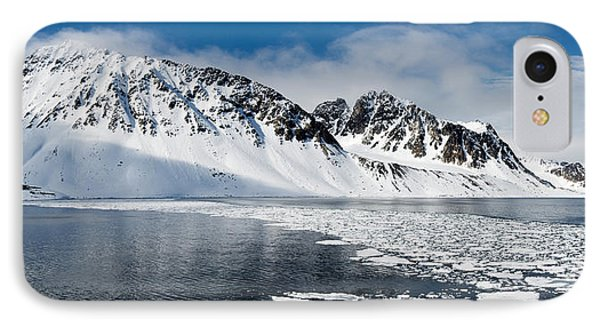 Ice Floes On Water With A Mountain IPhone Case