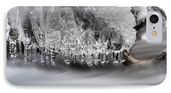 Ice Formation Above Stream Phone Case by Dan Friend