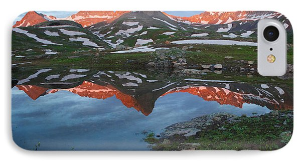 IPhone Case featuring the photograph Ice Lakes Alpenglow by Aaron Spong