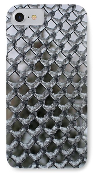 Ice On Chain Link Fence IPhone Case by Douglas Pike