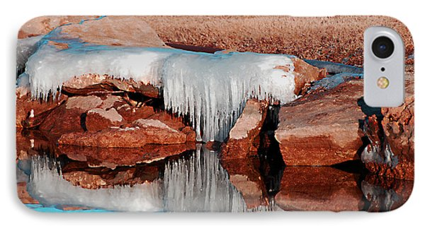 IPhone Case featuring the photograph Ice On Ice by Linda Cox