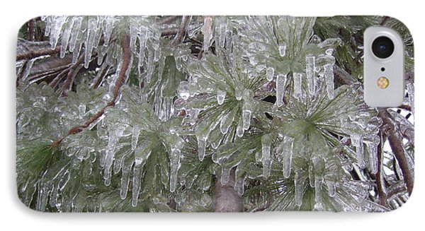 IPhone Case featuring the photograph Ice Pine by Deborah DeLaBarre